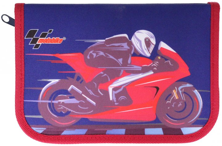 Пенал Class Motobike 1 отделение 2 отворота с наполнением (99408/8591662994087) - изображение 1