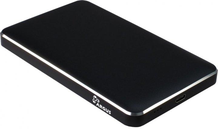 """Зовнішня кишеня Argus для HDD/SSD 2.5"""" SATA III - USB Type-C Black (GD-25609-BK) - зображення 1"""