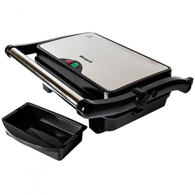 Гриль електричний электровафельница прес для будинку WIMPEX 1500 Вт кращий електрогриль сэндвичница бутербродниця домашній для барбекю контактний настільний притискної вафельниця мультипекарь WX1066G - зображення 1