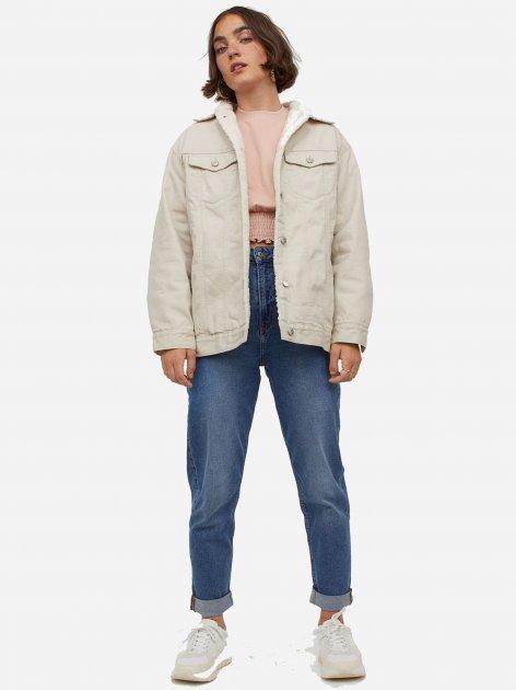 Джинсова куртка H&M 9108272dm M Світло-бежева (PS2030000050857) - зображення 1