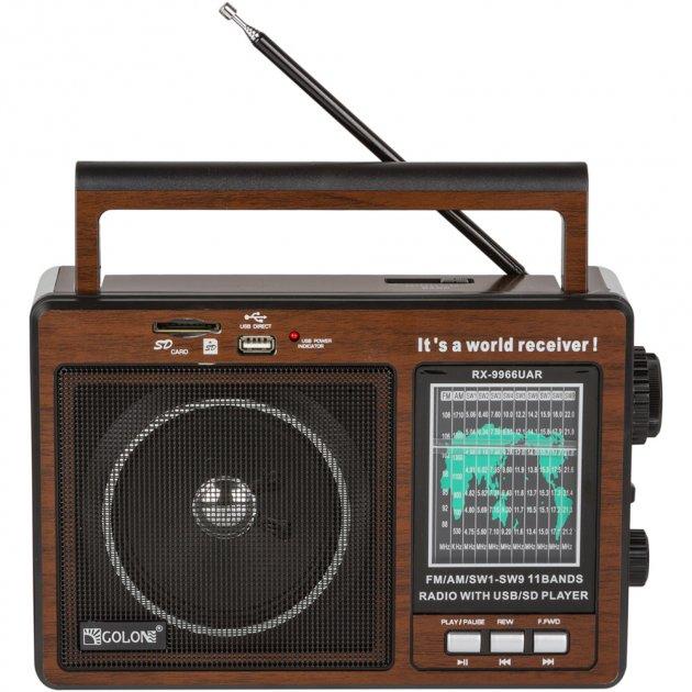 Портативный радиоприемник Golon RX-9966 UAR Brown (RX-9966UARB) - изображение 1