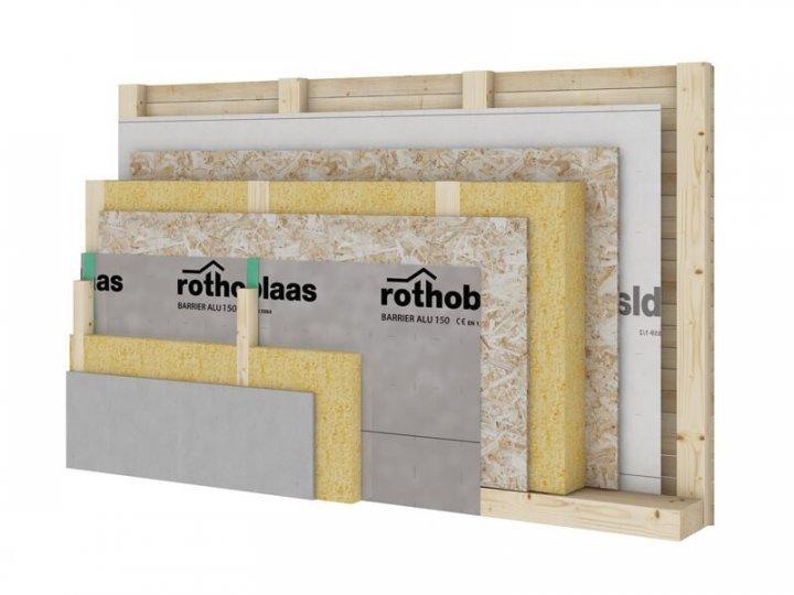 Фольгована пароізоляційна плівка Rothoblaas Barrier ALU 150 1.5 м х 50 м - зображення 1