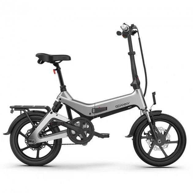 Электро Велосипед GDANNY S9 (Серый) - изображение 1
