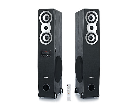 Колонки 2.0 REAL-EL S-2020 refurbished (Bluetooth, USB flash, FM, Karaoke, ДУ) - зображення 1