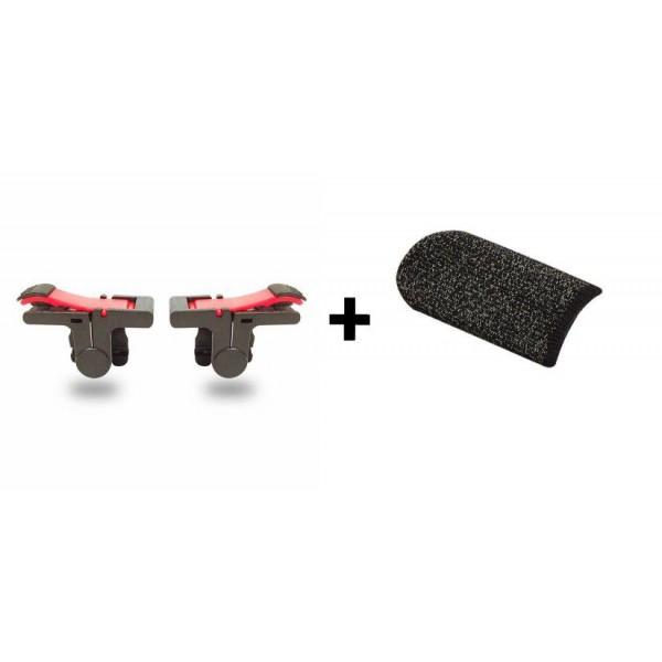 Беспроводной геймпад триггер D9 Shooter Pubg Mobile и напальчники FlyTouch - изображение 1