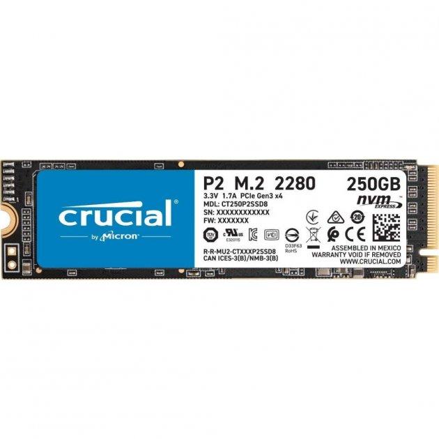 Накопичувач SSD M. 2 2280 250GB MICRON (CT250P2SSD8) - зображення 1