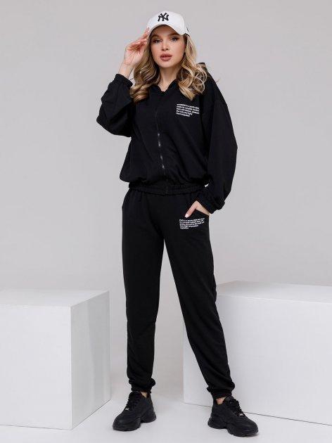 Спортивный костюм ISSA PLUS 12496 S Черный (2001163828096) - изображение 1