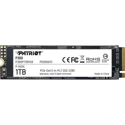 Накопичувач SSD M. 2 2280 1TB Patriot (P300P1TBM28) - зображення 1