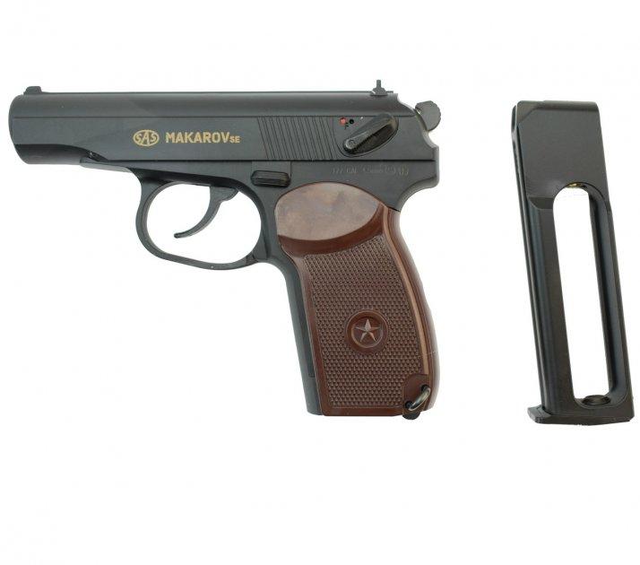 Пістолет пневматичний SAS Makarov SE, 4,5 мм - зображення 1