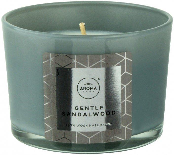 Ароматическая свеча из натурального воска Aroma Home Elegance Gentle Sandalwood 115 г (5902846836643) - изображение 1