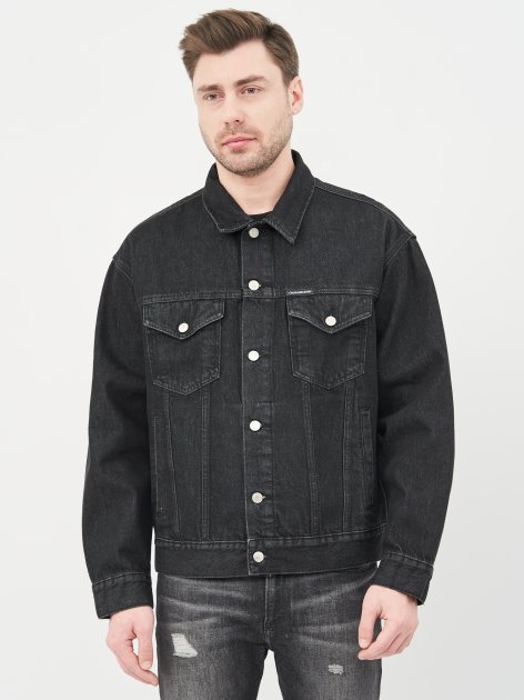 Джинсова куртка Calvin Klein Jeans Dad Denim Jacket J30J318076-1BY XL Denim Black (8719853756102) - зображення 1