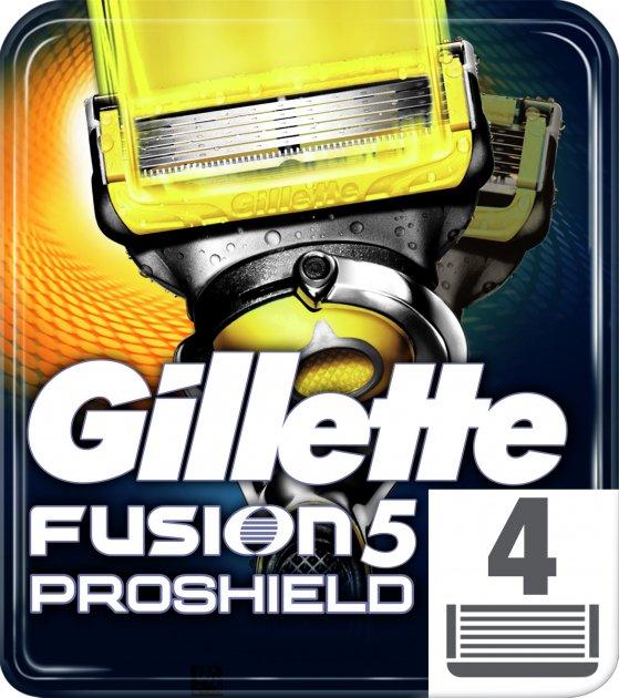 Сменные картриджи для бритья (лезвия) мужские Gillette Fusion5 ProShield 4 шт (7702018412488)