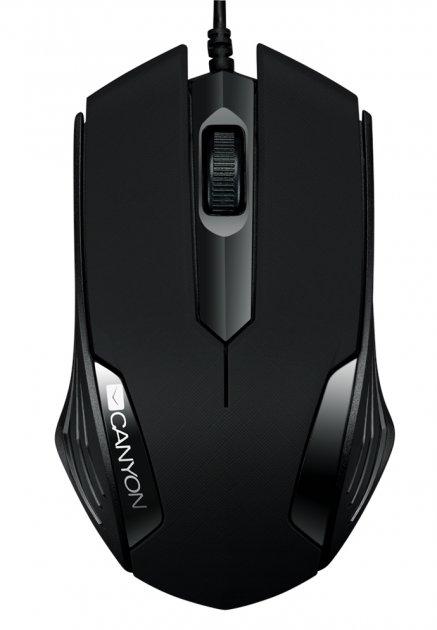Мышь Canyon CNE-CMS02B USB Black - изображение 1