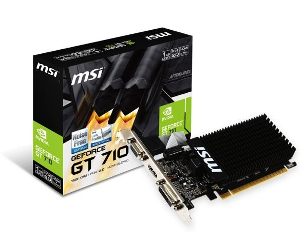 MSI GeForce GT 710 1Gb DDR3 (GT 710 1GD3H LP) - изображение 1