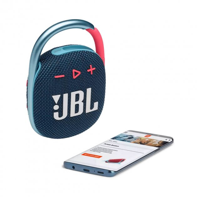 Портативная акустика JBL Clip 4 Blue/Pink (JBLCLIP4BLUP) - изображение 1