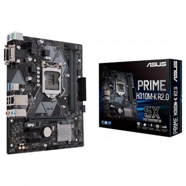 Материнська плата Asus Prime H310M-K R2.0 Socket 1151 - зображення 1
