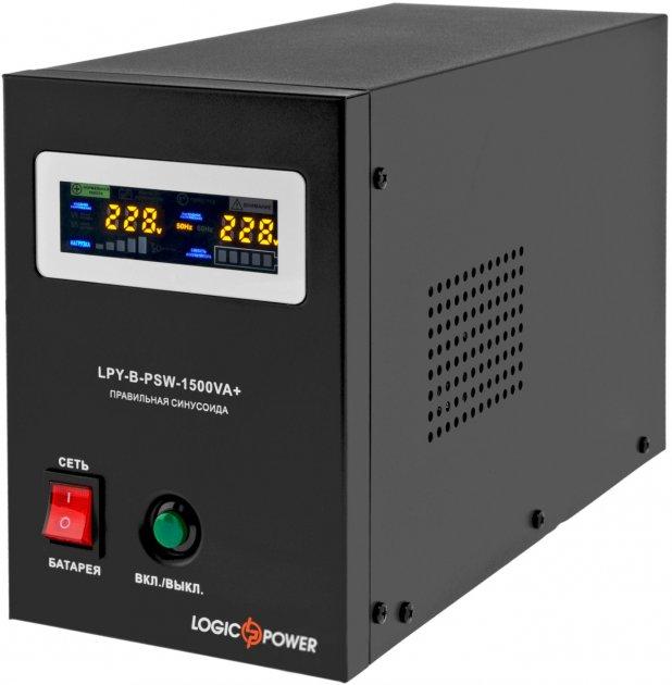 ДБЖ LogicPower для котлів LPY-B-PSW-1500VA+ (1050 Вт) 10A/15A (LP4130) - зображення 1