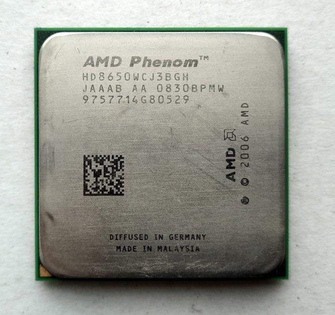 Процесор AMD Phenom X3 8650 2,3 GHz sAM2+ Tray (HD8650WCJ3BGH) Toliman Б/У - зображення 1