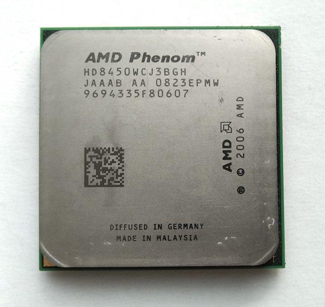Процесор AMD Phenom X3 8450 2,1 GHz sAM2+ Tray (HD8450WCJ3BGH) Toliman Б/У - зображення 1