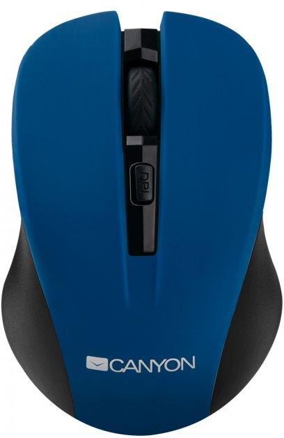 Миша Canyon CNE-CMSW1BL Wireless Black/Blue - зображення 1