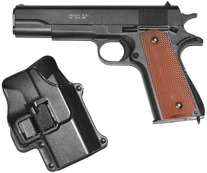 Пистолет страйкбольный Galaxy G13+ с кабурой (Colt M1911 Classic) - зображення 1