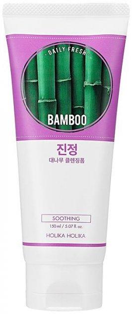 Пенка для лица с экстрактом бамбука Holika Holika Daily Fresh Bamboo Cleansing Foam 150 мл (8806334369750) - изображение 1