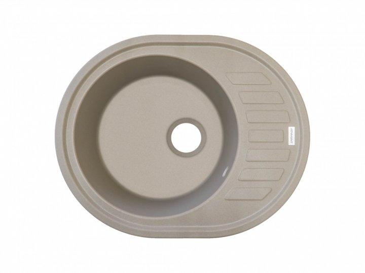 Кухонна мийка гранітна Pro100 Moyka OVUM цукру-02 - зображення 1