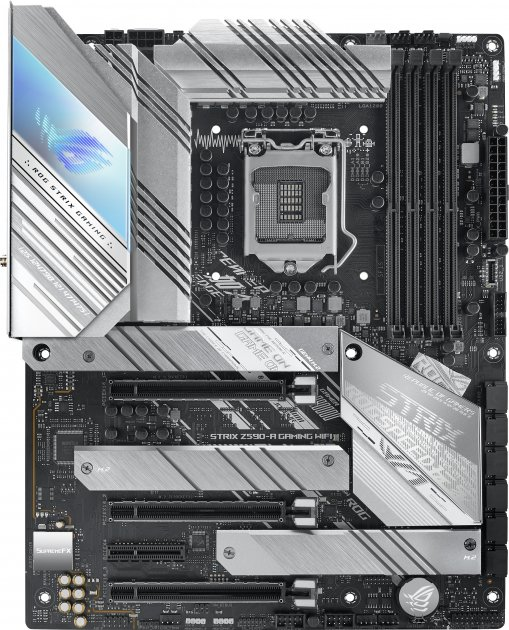 Материнська плата Asus ROG Strix Z590-A Gaming Wi-Fi (s1200, Intel Z590, PCI-Ex16) - зображення 1