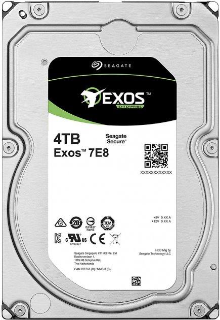 "Жорсткий диск Seagate Exos 7E8 512E 4TB 7200rpm 256MB ST4000NM002A 3.5"" SATA III - зображення 1"