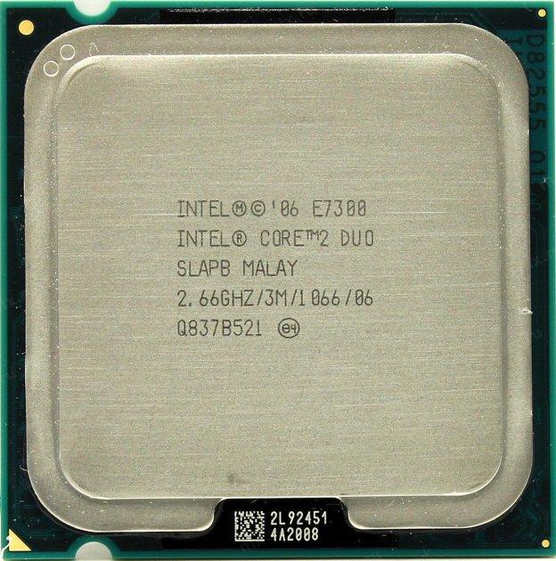 Процесор Intel Core2 Duo E7300 2.66 GHz/3M/1066 (SLAPB) s775, tray - зображення 1
