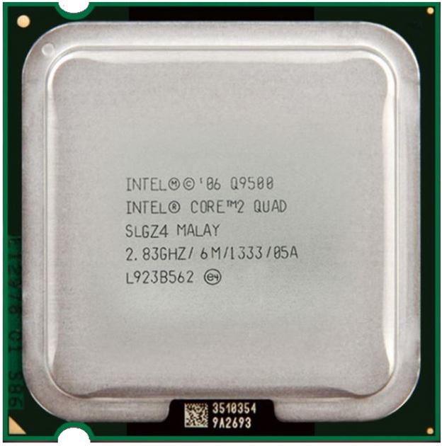 Процессор Intel Core 2 Quad Q9500 2.83GHz/6M/1333 (SLGZ4) s775, tray - изображение 1