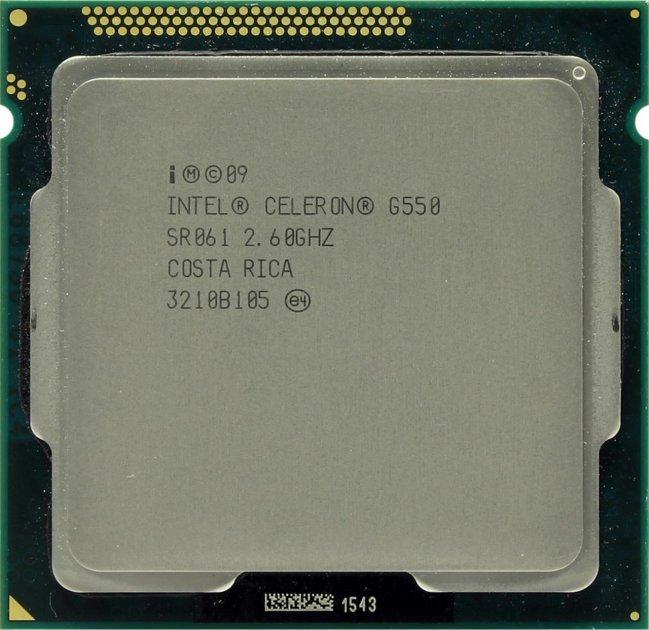 Процесор Intel Celeron Dual-Core G550 2.6 GHz/2MB/5GT/s (SR061) s1155, tray - зображення 1