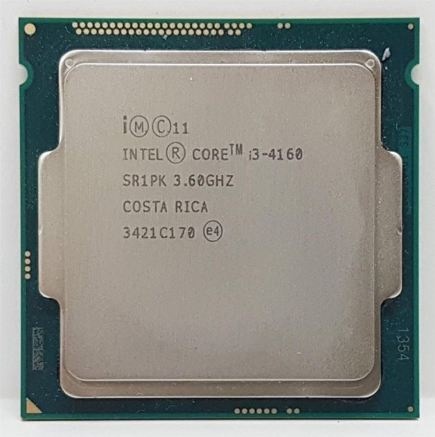 Процесор Intel Core i3-4160 3.6 GHz/3MB/5GT/s (SR1PK) s1150, tray - зображення 1