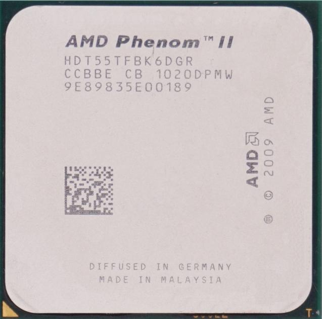 Процессор AMD Phenom II X6 1055T 2.8GHz/6MB/2000MHz (HDT55TFBK6DGR) sAM3, tray - изображение 1