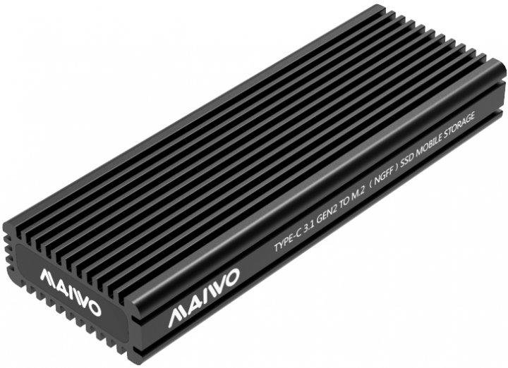Зовнішня кишеня Maiwo для M.2 SSD NVMe (PCIe) / M.2 SSD SATA — USB 3.1 Type-C (K1687P2) - зображення 1
