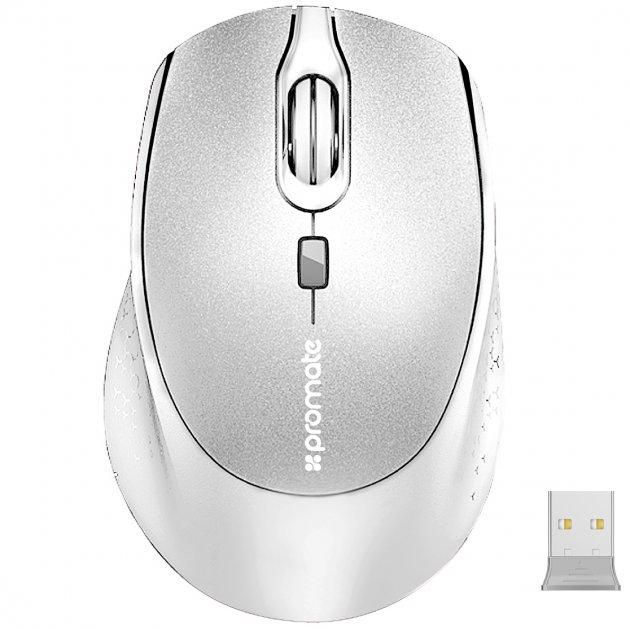 Мышь Promate Clix-5 Wireless White (clix-5.white) - изображение 1
