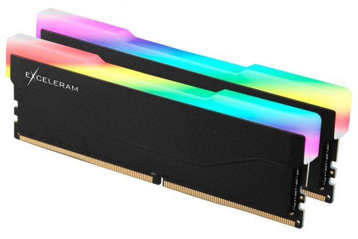 Оперативна пам'ять Exceleram DDR4-3600 16384 MB PC4-28800 (Kit of 2x8192) RGB X2 Series Black (ERX2B416369AD) - зображення 1