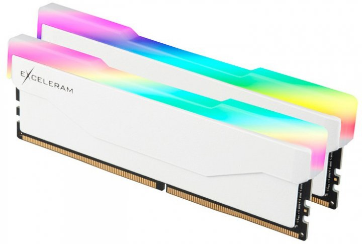 Оперативна пам'ять Exceleram DDR4-3600 32768 MB PC4-28800 (Kit of 2x16384) RGB X2 Series White (ERX2W432369CD) - зображення 1