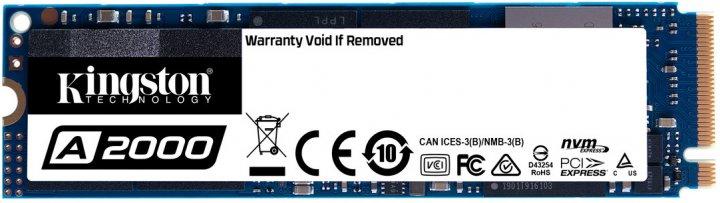 Kingston A2000 250GB NVMe M.2 2280 PCIe 3.0 x4 3D NAND TLC (SA2000M8/250G) - изображение 1