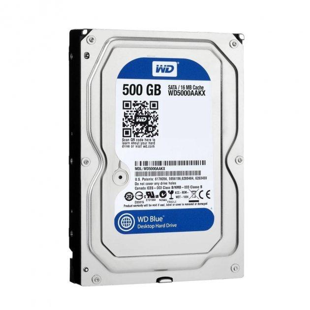 Жесткий диск Western Digital Blue 500GB 7200rpm 16MB SATAIII (WD5000AAKX) 3.5 Refurbished - изображение 1