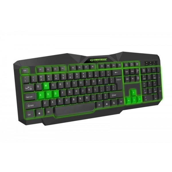 Клавиатура Esperanza EGK201 (EGK201GUA) Green USB - изображение 1