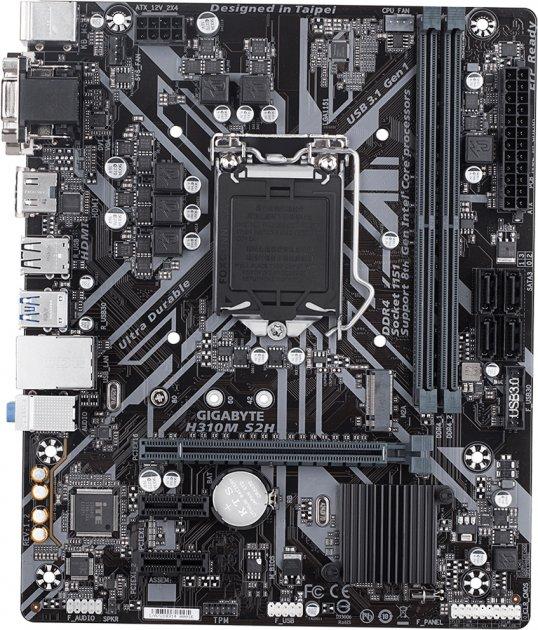 Материнская плата Gigabyte H310M S2H 1.2 (s1151, Intel H370, PCI-Ex16) - изображение 1