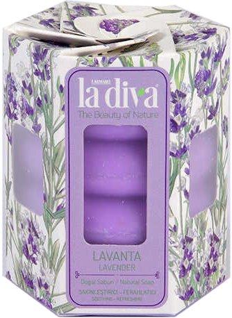 Натуральне мило La Diva Лаванда 4х45 г (8699266390684) - зображення 1