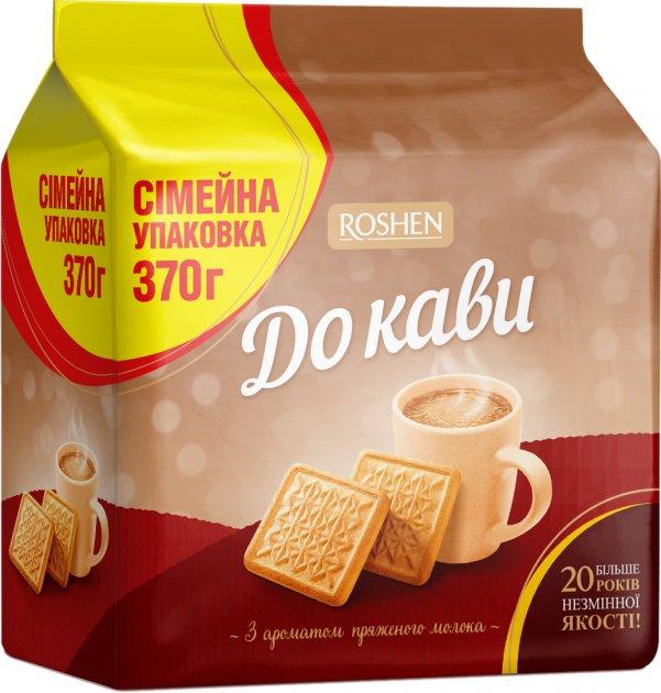 Упаковка печенья Roshen Семейное К кофе с ароматом топленое молоко 370 г х 13 шт (4823077623806) - изображение 1