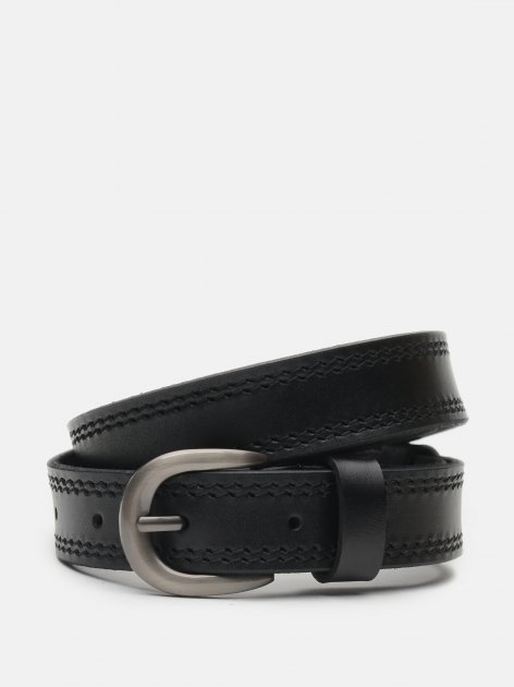 Женский ремень кожаный Laras CV10W35 100 см Черный (ROZ6400030383) - изображение 1