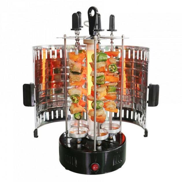 Электрошашлычница на 6 шампуров шашлык дома 1000 Вт Domotec (RZ602) - изображение 1
