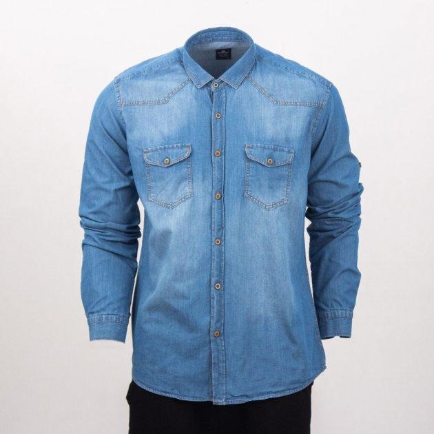 Сорочка джинсова чоловіча Frenzy XL блакитний (3431) - зображення 1