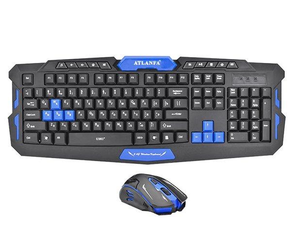 Професійна бездротова ігрова клавіатура з мишкою Atlanfa AT-8100 Комплект (8100) - зображення 1