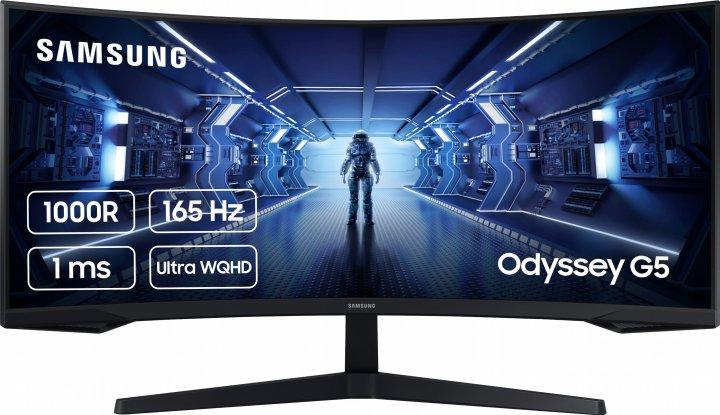 """Монітор 34"""" Samsung Odyssey G5 LC34G55T Black (LC34G55TWWIXCI) - зображення 1"""