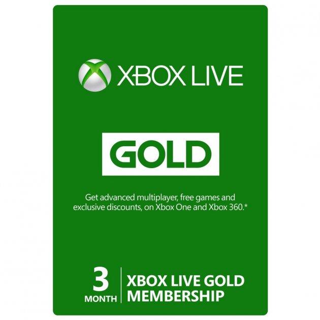 Підписка Xbox Live Gold Золотий Статус на 3 місяці, (Всі Країни) - зображення 1
